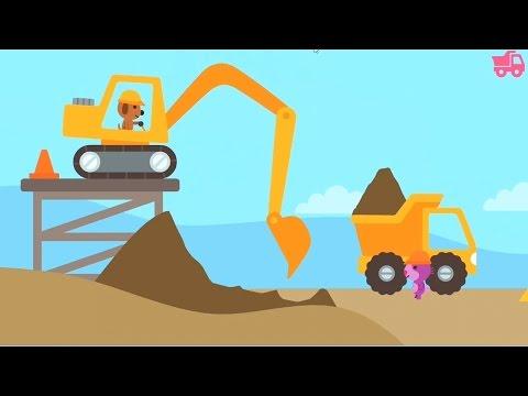 เกมส์ รถแม็คโคร ก่อสร้าง Sago Mini Trucks and Diggers