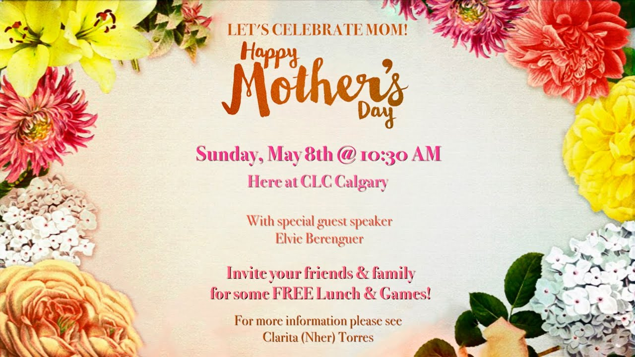 Mothers day invitation youtube mothers day invitation stopboris Choice Image