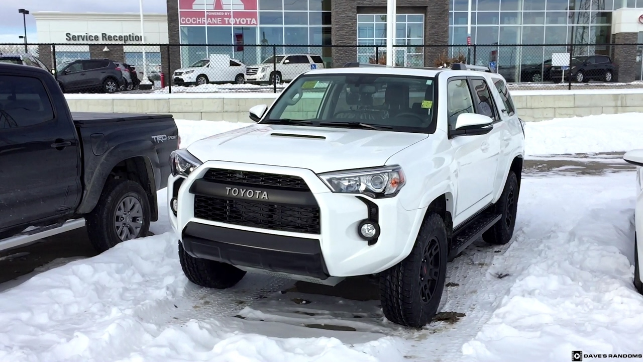 2017 toyota 4runner trd pro in white youtube. Black Bedroom Furniture Sets. Home Design Ideas