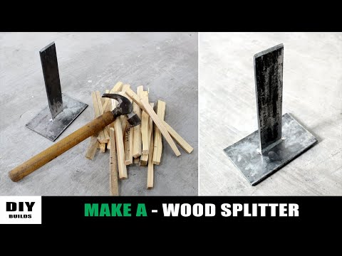 Making a Diy Wood Splitter | Homemade Tools | Diy Tools | Diamleon Diy Builds
