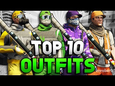 GTA 5 MODDED OUTFITS TOP 10 Run And Gun Tryhard Clothing