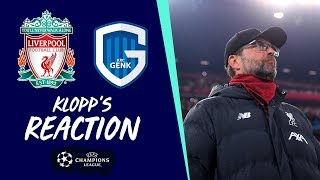 Klopp's reaction: 'Ox performance, injury update and more' | Liverpool vs Genk