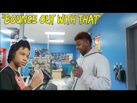 "Blasting YBN Nahmir ""Bounce Out With That"" in Walmart ! (INTERCOM)"
