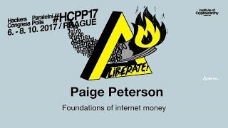 Paige Peterson - FOUNDATIONS OF INTERNET MONEY