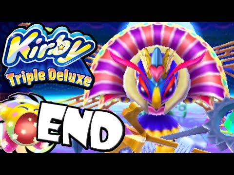 Kirby Triple Deluxe: Queen Sectonia Final Boss END World 7 Ending Nintendo 3DS Gameplay Walkthrough