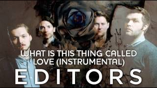 Editors - What Is This Thing Called Love (Instrumental)