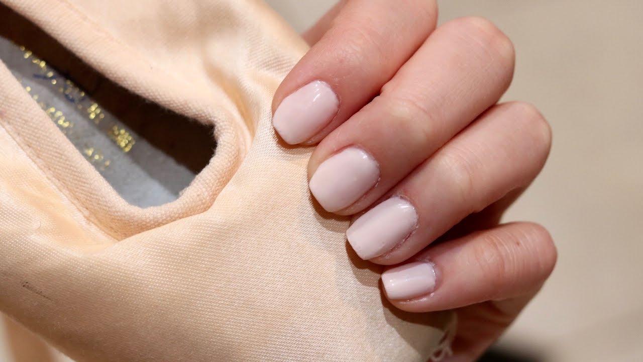 Natural Short Ballerina Nails | Coffin Nails - YouTube