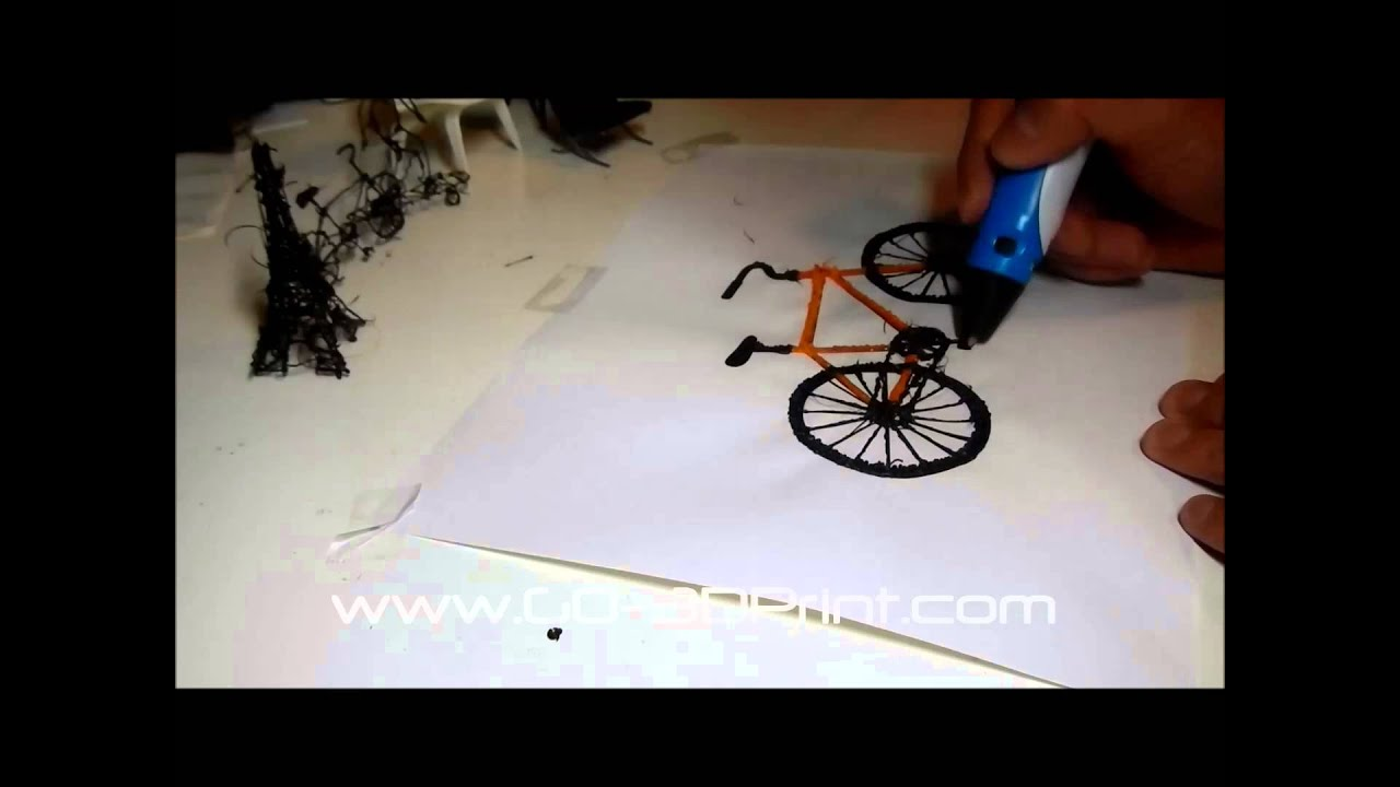 3d Bicycle Printing Using Myriwell 3d Pen Youtube