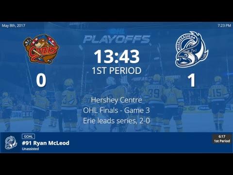 Erie Otters vs. Mississauga Steelheads - Game 3 - OHL Championship Finals