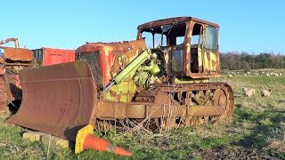 20th Century Artifacts-Rusting Plant Machinery in a Lancashire Field