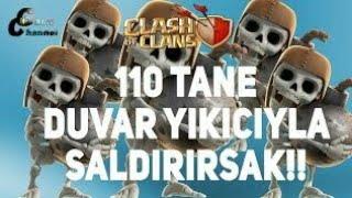 110 BOMBACI VS DUVARLAR SONUÇ ÇOK FENA #1 BÖLÜM [CLASH OF CLANS]