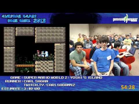 Super Mario World 2: Yoshi's Island - Speed Run in 2:48:54 (100%) live for AGDQ 2013 [Super NES]