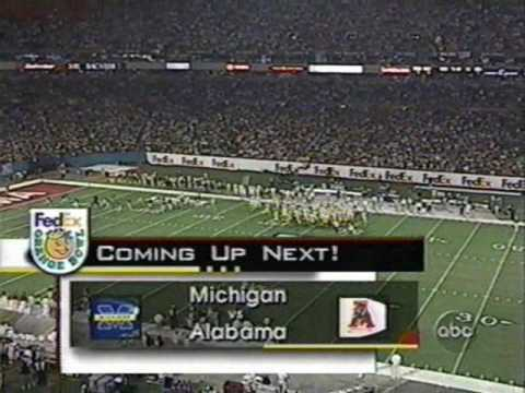 2000 Orange Bowl: Michigan 35 Alabama 34 (PART 1)