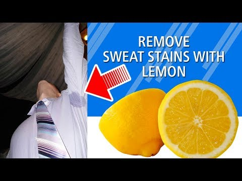 REMOVE SWEAT & STUBBORN STAINS WITH LEMON