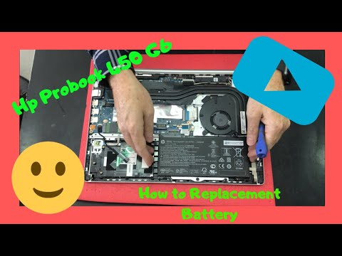 Hp Probook 450 G6 How To Replace Battery Disassembly