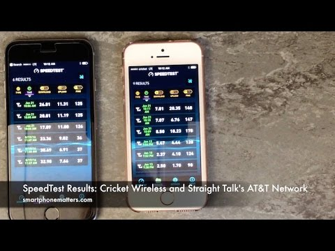 SpeedTest Results: Cricket Wireless and Straight Talk\'s AT&T Network