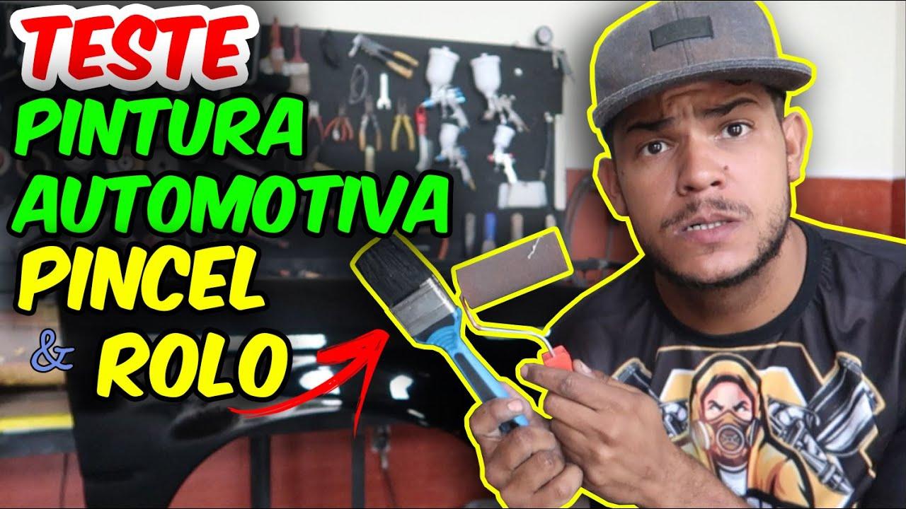 PINTURA AUTOMOTIVA COM PINCEL E ROLINHO - FUNCIONA MESMO?? TINTA PU!!!