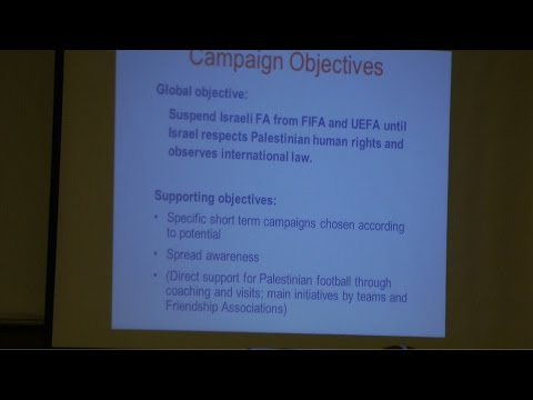 Red Card Israeli Racism Campaign Meeting