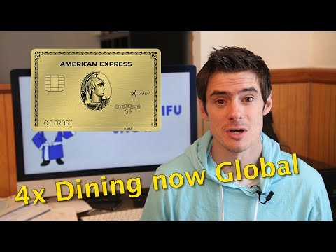 Amex Gold 4x Points On Dining Going Global