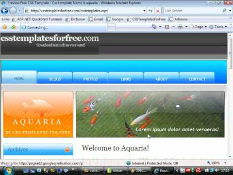 Copy of creating first asp.net website from css templates tutorial 1 ...