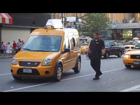 Catching Cabs on Eighth Avenue in NYC 08-06-12