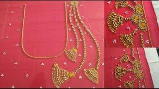 beautiful mangtikka aari design using with normal needle