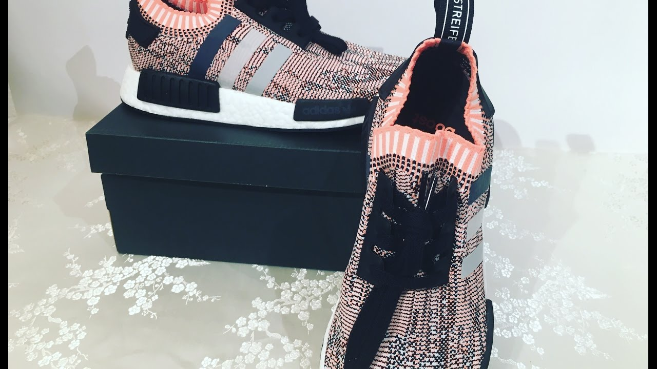 Adidas NMD R1 PK tri color Sun Glow mujer unboxing en YouTube