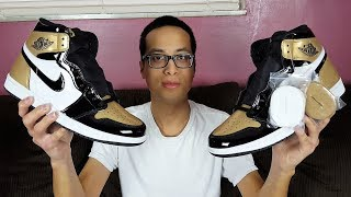 These Were More Limited Than Expected! Air Jordan 1 Retro High OG NRG Gold Toe Review!