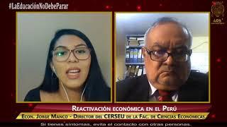 Tema: Reactivación económica del Perú