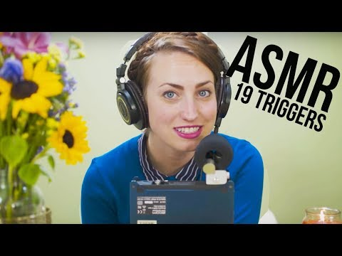 19 ASMR Triggers   CHRIS & BRITTANY