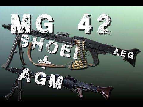 MG42 AEG SHOEI & AGM video review [1/2]