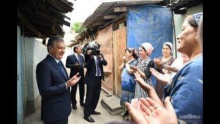Шавкат Мирзиёев оғир шароитда яшаётган андижонликлар шароити билан танишди
