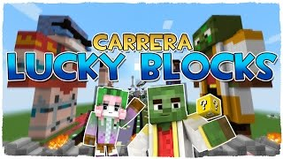 CARRERA DE LUCKY BLOCKS CON MI NOVIA | ¡SUPER MAPA DE MINECRAFT DEL SUSCRIPTOR CON MODS!