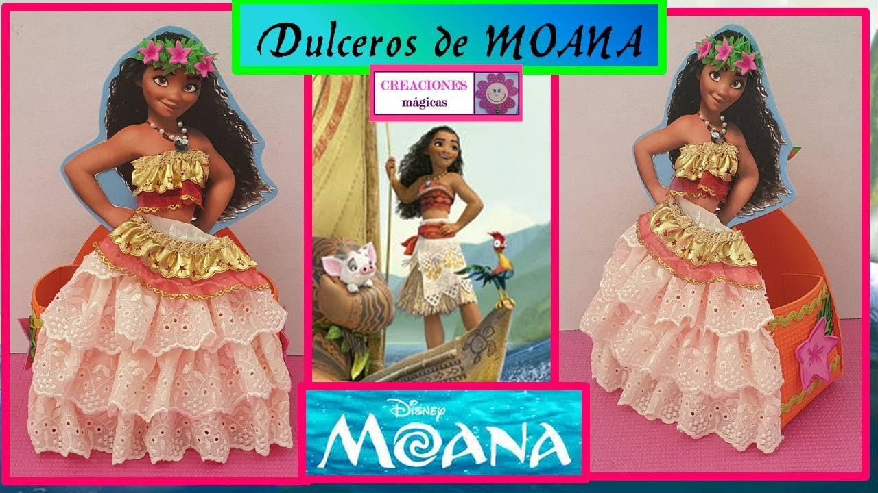 ♥♥DIY Como elaborar hermoso Dulcero de Moana♥Creaciones Mágicas♥♥