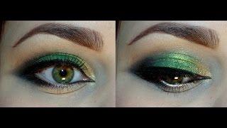 Яркий зелёный макияж с тенями от Тамми Тануки / Наездница Лесного Дракона