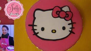 Hello Kitty Torte/ Hello Kitty birthday cake/ how to make by Sanny´s e-Sport Torten