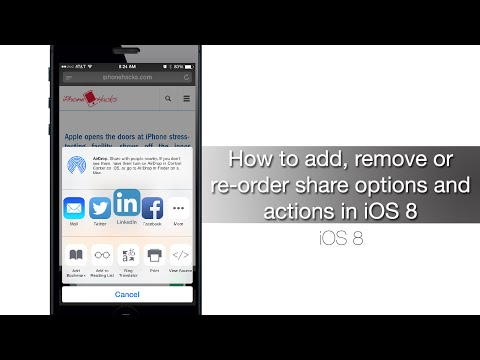 How to add, remove or re-order share options and actions in iOS 8