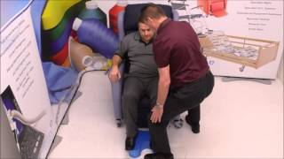 Moving Back in a chair and leg support using EasyStool