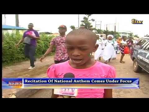 Recitation of Nigeria National Anthem comes under focus