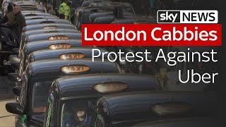 London Cabbies Protest Against Uber