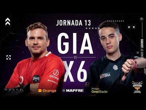 VODAFONE GIANTS VS X6TENCE  Superliga Orange League of Legends  Jornada 13  2019