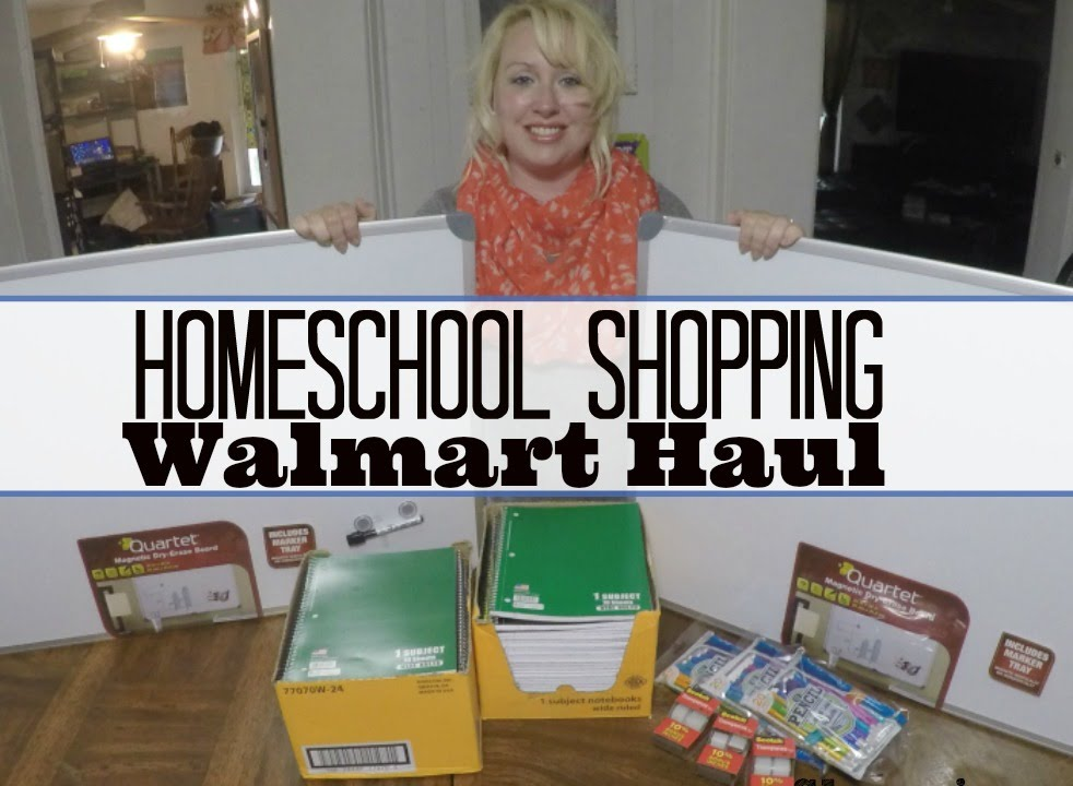 Cheap Homeschool Haul From Walmart Day In The Life Of A Big Family