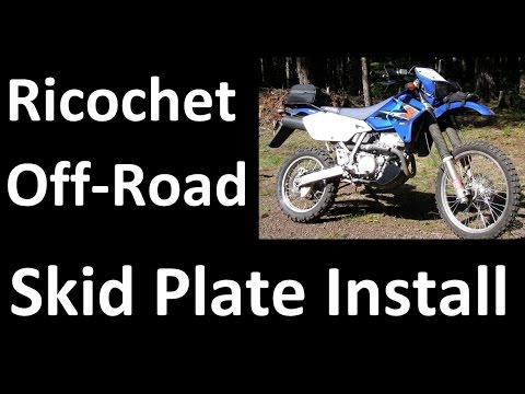 Ricochet Off-Road Motorcycle Skid Plate Suzuki DR-Z400s Unbox Install Review
