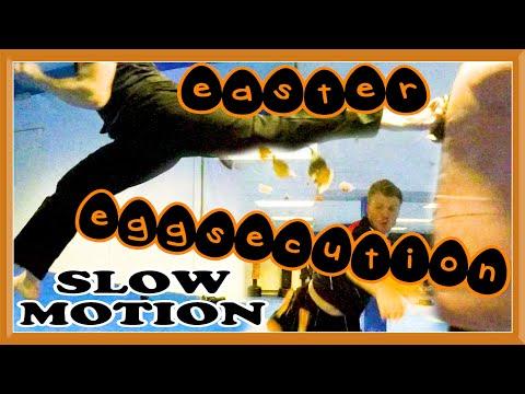 Taekwondo Kicking Eggsecution (Slow Motion) | GNT Easter Special