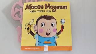 Afacan Maymun Nasıl Yemek Yer ( 1 + yaş bebek kitapları)