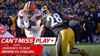 Josh Gordon's Long Catch Sets Up Duke Johnson's Amazing TD Dive! | Can't-Miss Play | NFL Wk 17