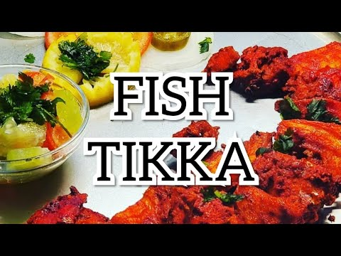 FISH TIKKA- AIR GRILLED Fish Tikka Low Calorie (GUILT FREE,ALMOST OIL FREE) #StayHome #WithMe