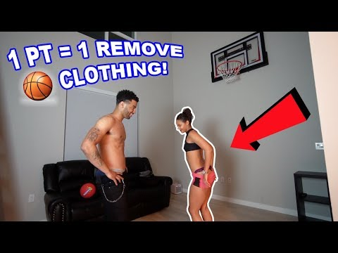 STRIP 1V1 BASKETBALL IN MY HOUSE! (1 POINT=1 REMOVE CLOTHING) | The Aqua Family