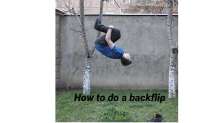 How to do a backflip on a trampoline!