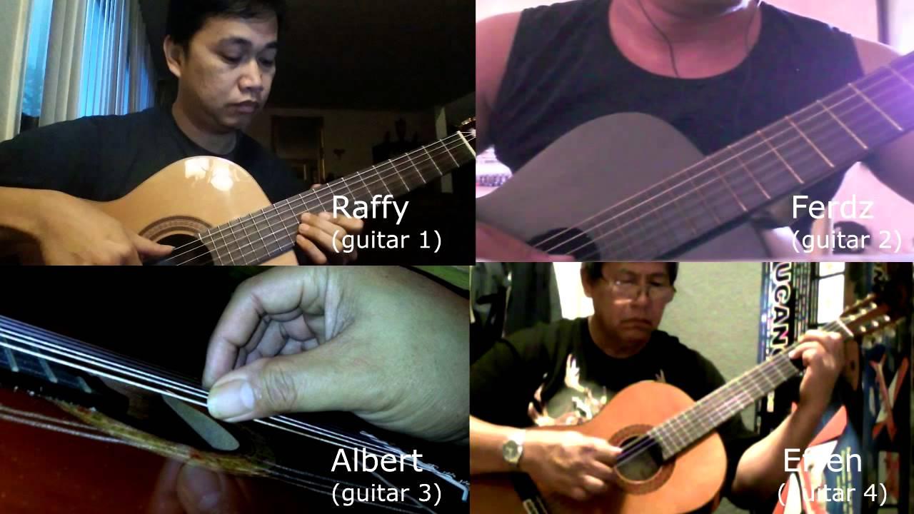Bahay Kubo Virtual Guitar Ensemble 70 Bpm Classical Guitar